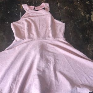 Pink shimmery semi formal dress